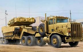 Picture USA, Oshkosh, Army truck, Heavy Equipment Transport System, M911, HETS, M747