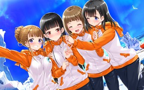 Picture girls, group, anime