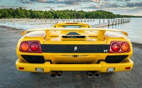 Picture Roadster, Yellow, Lamborghini Diablo, Sypercar