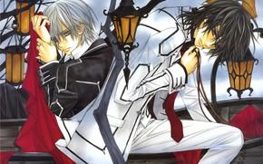 Picture lights, emblem, the coffin, school uniform, art, kaname kuran, students, red cloth, vampire knight, knight-vampire, …