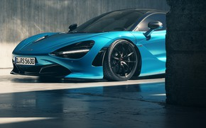 Picture Auto, Blue, Machine, Art, Render, Supercar, Rendering, Sports car, Mclaren, McLaren 720S, Colorsponge Carlos, CL-RS5630, …
