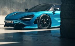 Picture Auto, Blue, Machine, Art, Render, Supercar, Rendering, Sports car, Mclaren, McLaren 720S, Colorsponge Carlos, CL-RS5630, …