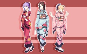 Picture background, girls, art, yucata, the saber, Fate stay night, Fate / Stay Night