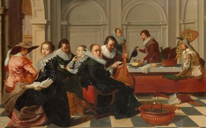 Picture oil, picture, 1700, Willem Cornelisz. Duyster, Music, Willem Cornelis Deister