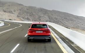 Picture road, Audi, feed, E-Tron, 2019, dark orange