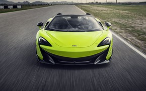 Picture McLaren, supercar, front view, Spider, 2019, 600LT, Lime Green