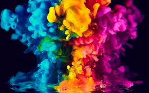 Picture colors, colorful, abstract, rainbow, background, Smoke, ink