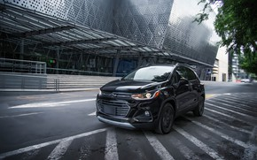 Picture road, street, the building, Chevrolet, Midnight, Trax Premier