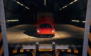 Picture machine, light, lights, hangar, Ferrari, sports car, Superfast, 812, Novitec N-Largo