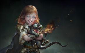 Picture elf, fantasy, art, dragon, baby, 안녕 루치아~, NEMO Art