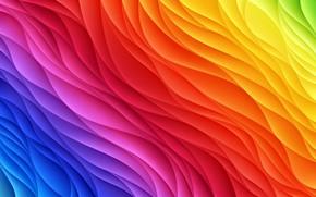 Picture wave, color, rainbow, rainbow