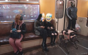 Picture Smiles, Girls, Robot, Smile, Glasses, People, Style, Metro, Fantasy, Art, Robot, Robots, Fiction, RUSSIA, Hologram, …