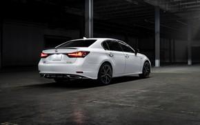 Picture white, Lexus, sedan, four-door, GS 350 F Sport