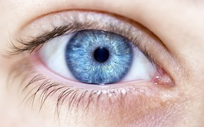 Picture woman, blue eye, pupil