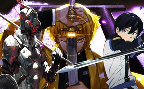 Picture collage, Sword Ard Online, Sword Art Online, Goblin Slayer, The killer of goblins, Demon Slayer …