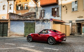 Picture red, the city, Mazda, Targa, 2019, MX-5 RF
