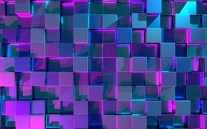 Picture background, texture, cube, Abstraction