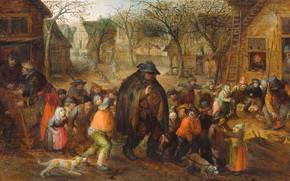 Picture oil, picture, David Vinckboons, 1608, David Vinckboons, Лирник