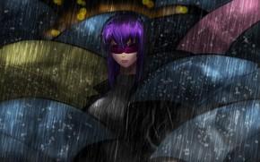Picture Girl, Figure, Rain, Umbrellas, Ghost, Art, Ghost in the shell, Ghost in the Shell, Cyborg, …
