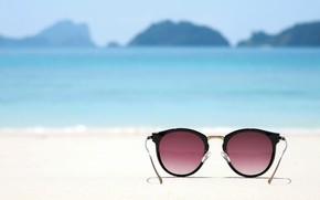 Picture sand, sea, beach, summer, stay, glasses, summer, beach, sea, sand, vacation, sunglasses