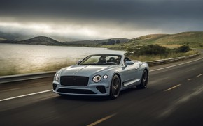 Picture overcast, Bentley, convertible, 2019, Continental GT V8 Convertible