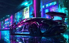 Picture car, city, supercar, japan, street, maclaren, Wild, nipon
