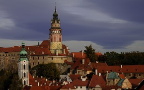Picture tower, home, Czech Republic, Cesky Krumlov