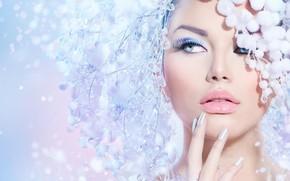 Wallpaper girl, style, makeup, decoration