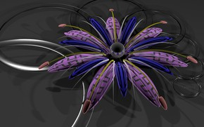 Picture flower, background, 3D graphics