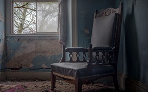 Picture chair, window, naturalism