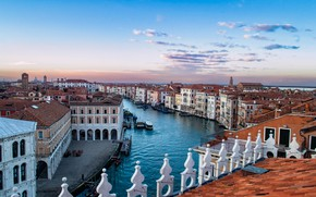 Picture roof, building, home, Italy, Venice, channel, Italy, Venice, The Grand canal, Grand Canal