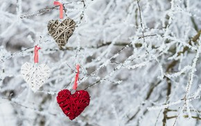 Picture winter, snow, love, heart, love, heart, winter, snow, romantic, valentine