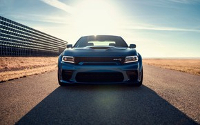 Picture Muscle, Dodge, Blue, Front, Charger, Hellcat, SRT, Widebody, Vehicle