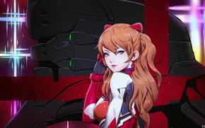 Picture girl, red, Evangelion, Evangelion