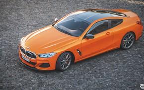 Picture Auto, BMW, Machine, Orange, Coupe, Rendering, BMW 8 Series, M850i, Zoki Nanco, by Zoki Nanco, …