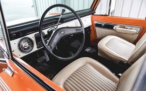 Picture orange, Ford, interior, Bronco, Half Cab