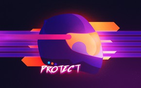 Picture Helmet, Background, Neon, 80's, Synth, Retrowave, Protection, Synthwave, New Retro Wave, Futuresynth, Sintav, Outrun, PROTECT, …