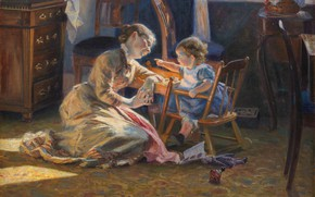 Picture 1888, Danish painter, Statens Museum for Kunst, Danish realist painter, oil on canvas, Statens Museum …