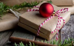 Picture gift, ball, Christmas, New year