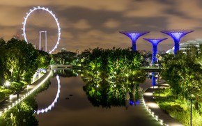 Picture pond, photo, Singapore, Singapore, Gardens by the Bay