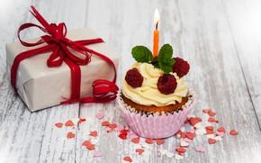Picture gift, candle, congratulations, cupcake, Birthday, Olena Rudo