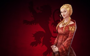 Picture Girl, Blonde, Art, Queen, Game Of Thrones, Game of thrones, Cersei Lannister, Cersei Lannister, Lannister, …