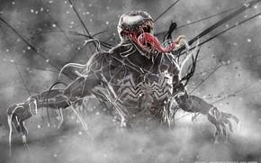 Picture language, comics, Venom, Venom, symbiote, 3D graphics