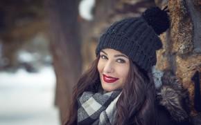 Picture look, girl, smile, cap, Claudia