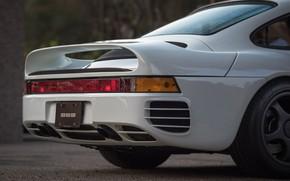 Picture white, sportcar, Porsche 959