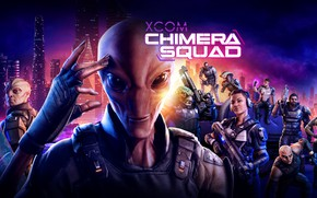 Picture the city, people, aliens, aliens, XCOM: Chimera Squad