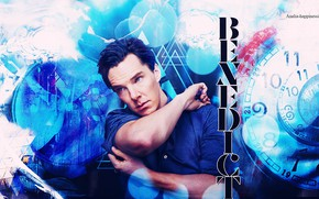 Picture abstraction, Benedict Cumberbatch, Benedict Cumberbatch, British actor, by happinessismusic