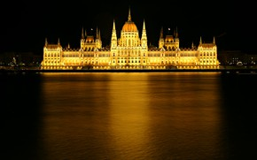 Picture reflection, Parliament, Hungary, Budapest