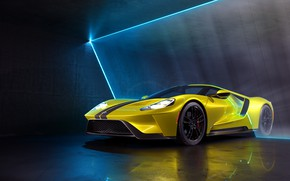 Picture rendering, Ford, supercar, Ford GT, CGI, 2019, by Marc Shephard