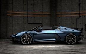 Picture profile, supercar, 2018, V10, ItalDesign, Targa, 610 HP, 5.2 L., Zerouno Duerta